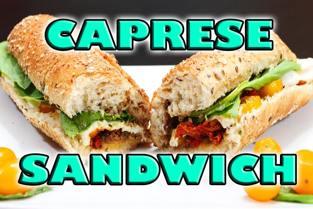 Healthy Sandwich Recipe | Caprese Sandwich | Vegan Recipes | Nurse vs Food Episode 048