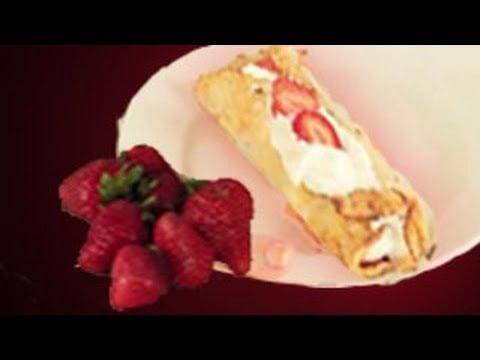 Strawberry Crepes Recipe : Crepes Recipes