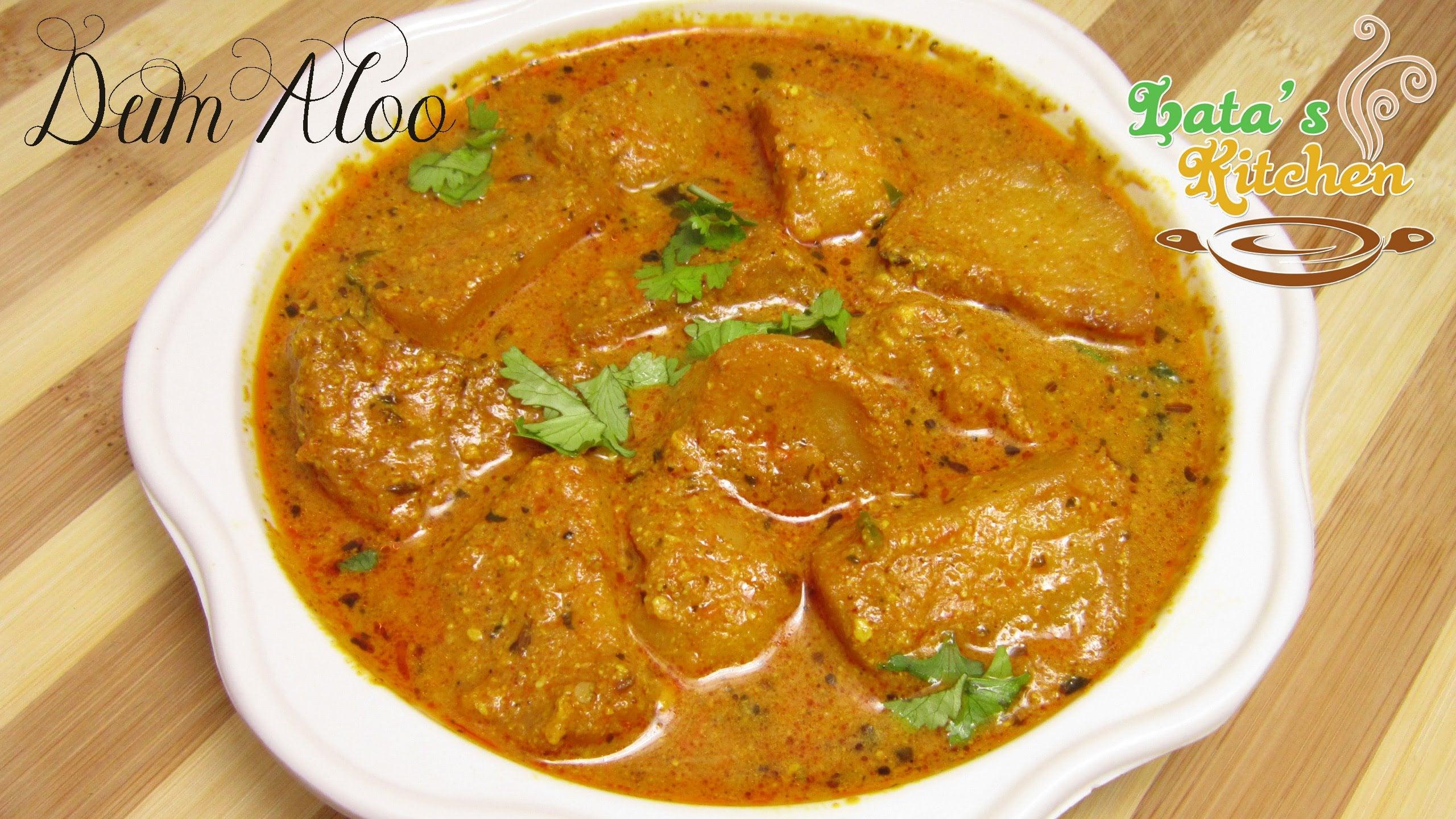 Dum Aloo Recipe — Indian Vegetarian Recipe Video in Hindi with English Subtitles