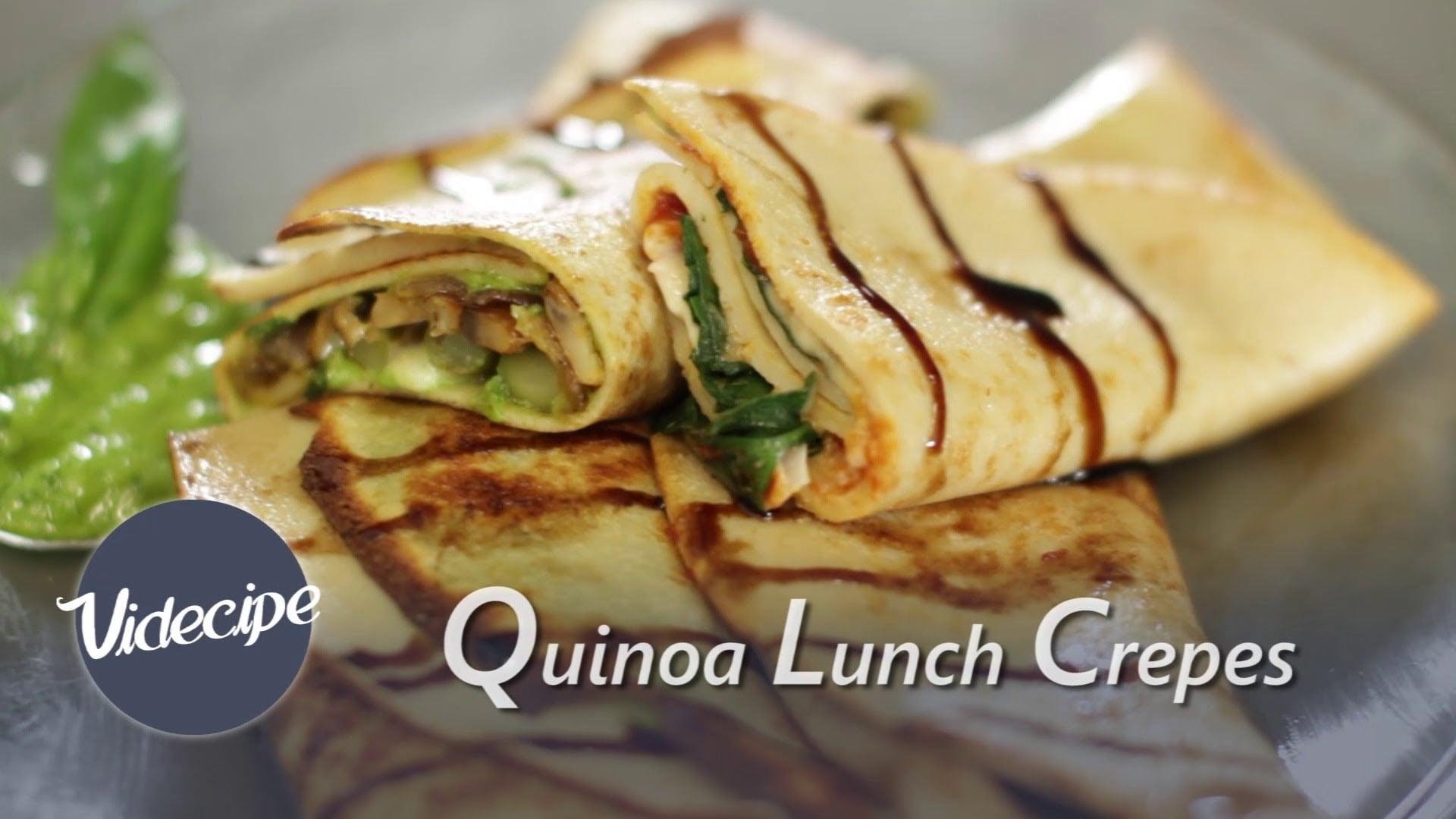 Quinoa Lunch Crepes – Healthy Video Recipe