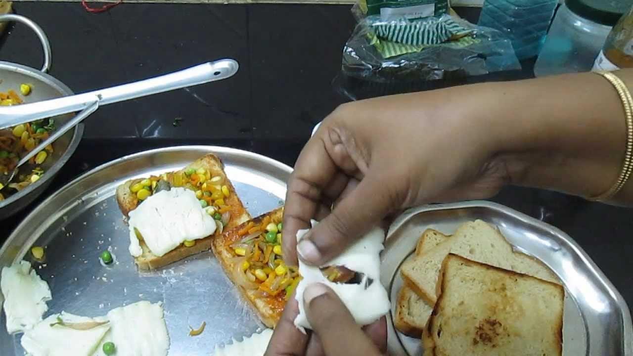 stuffed vegetable bread in Tamil ( English subtitle ) – bread recipe for breakfast