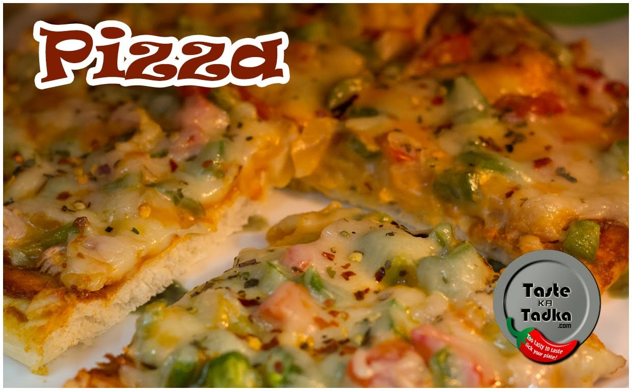 Veg Pizza Recipe in Microwave Oven [English Subtitles]