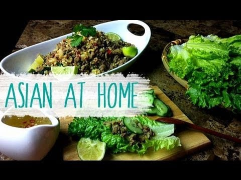 Healthy Recipes (Lettuce Wraps) : Thai Style Beef Lettuce Wraps Recipe: Asian at Home