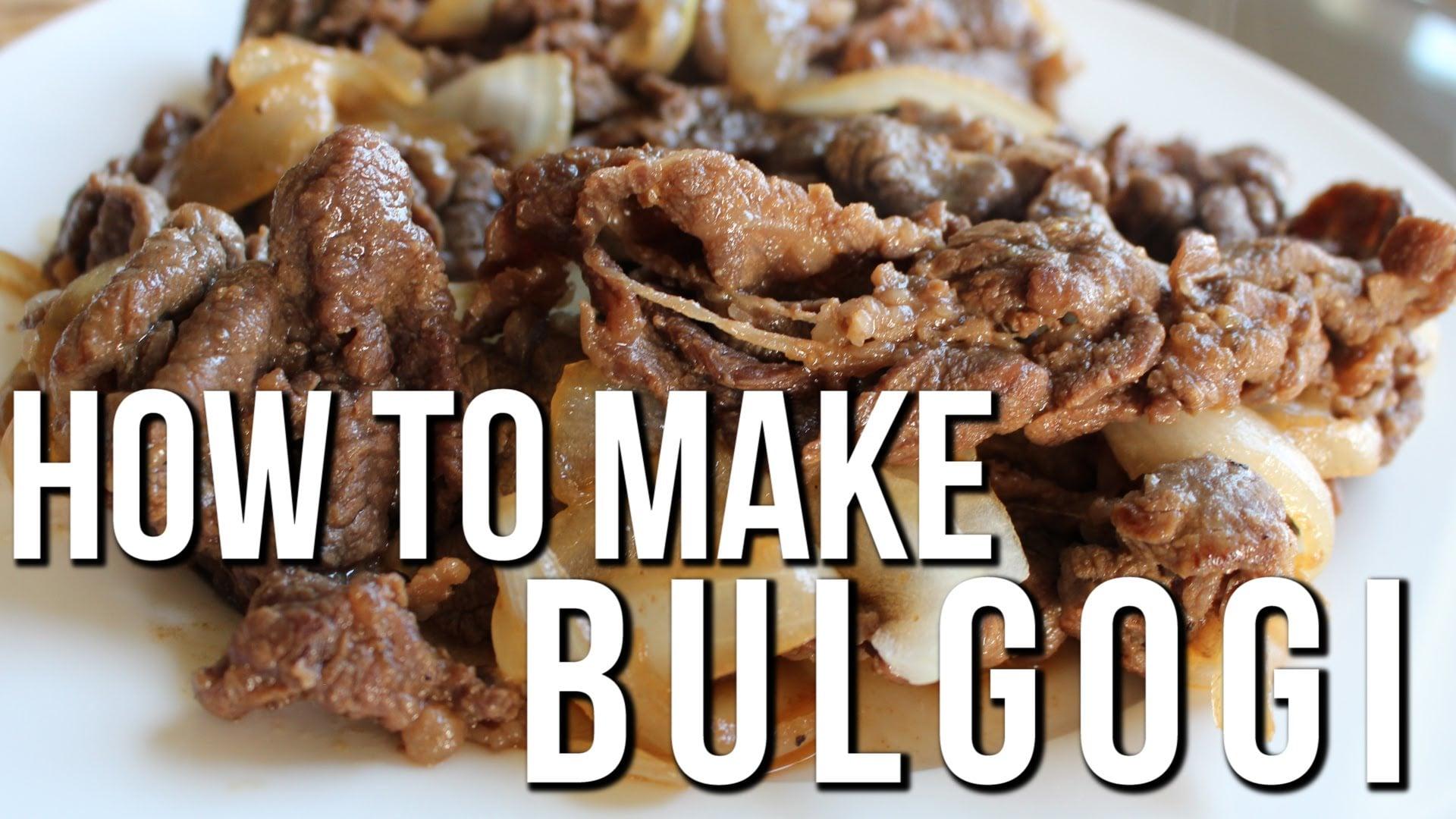 QUICK + EASY KOREAN BBQ RECIPE   BULGOGI   MARINATED BEEF ...