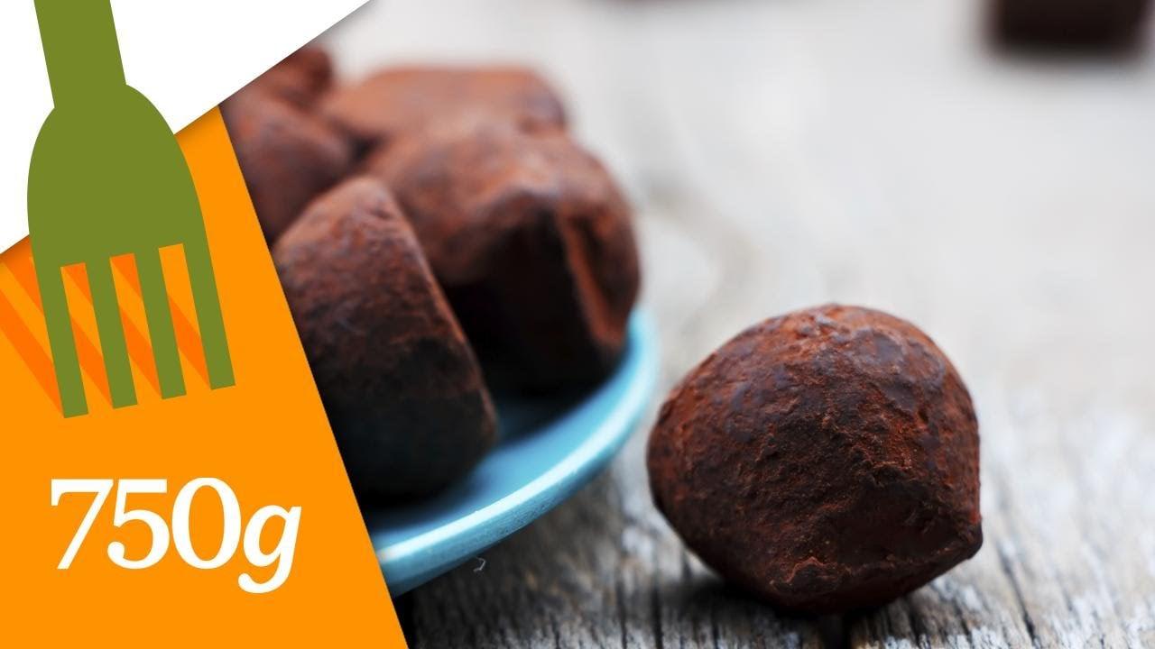 Recette Truffes au chocolat – 750 Grammes