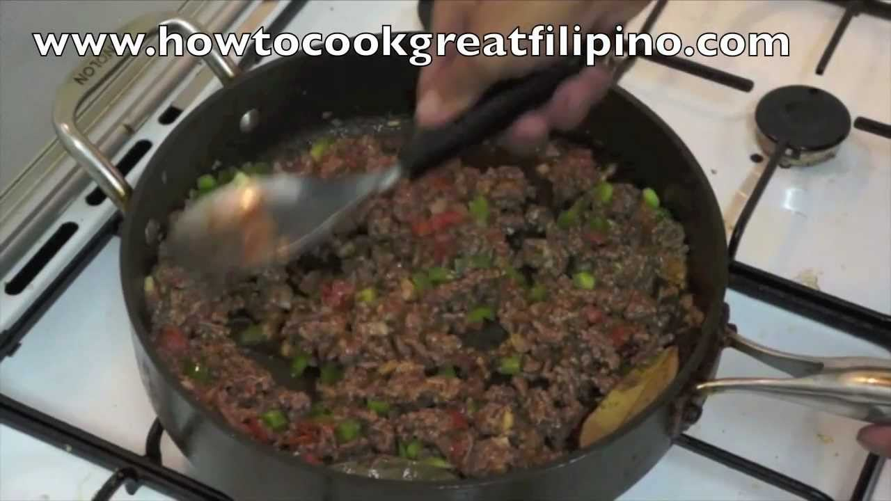 Giniling na Baka Filipino Recipe Pinoy minced beef Philippines How to cook great