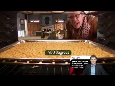 Good Eats – Alton Brown's hummus, falafel & roasted chickpeas!