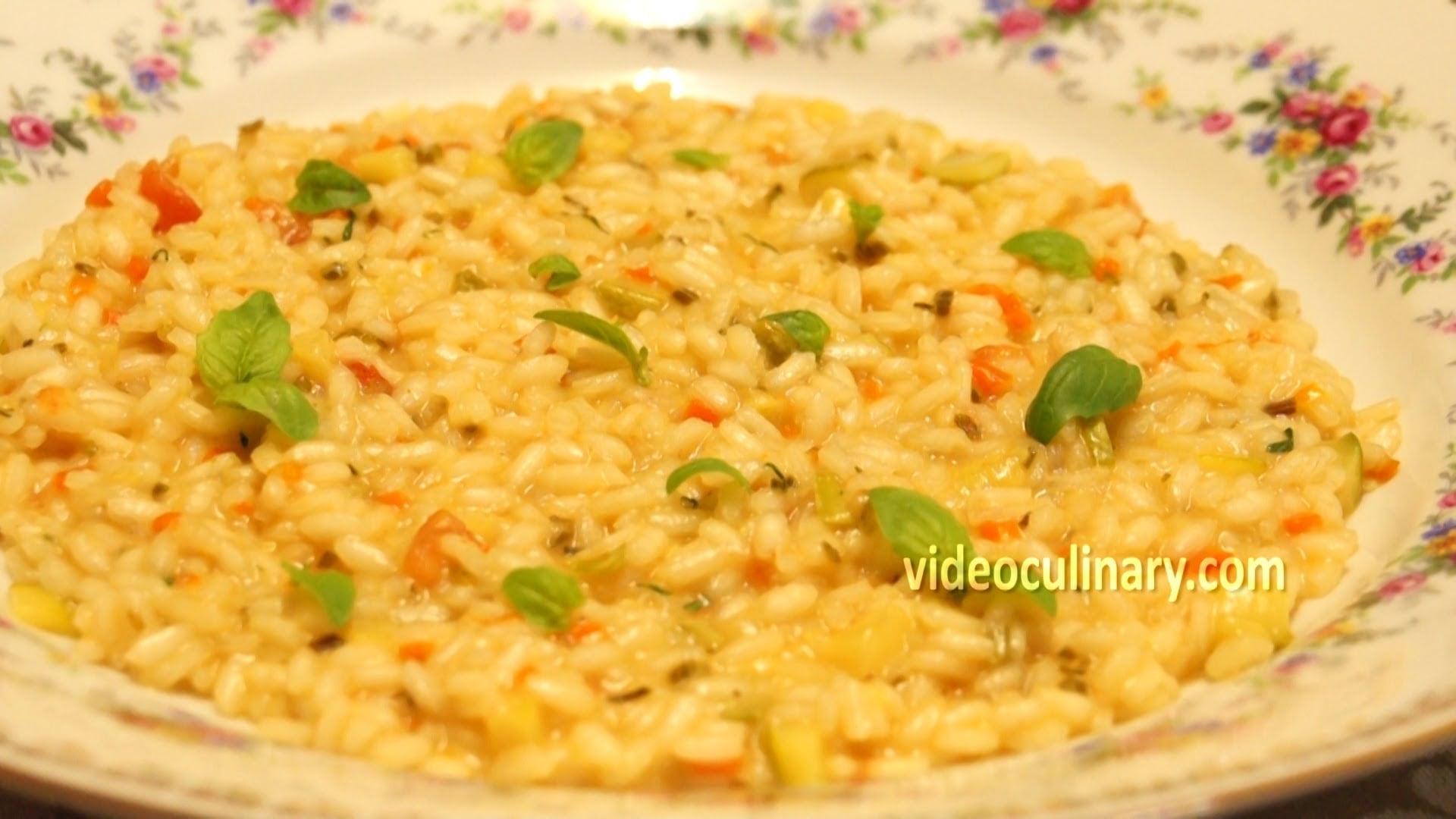 Italian Vegetarian Risotto Recipe – Video Culinary