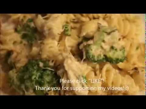 Chicken & Broccoli Rotini Alfredo Pasta Recipe – SIMPLE & CHEAP !!