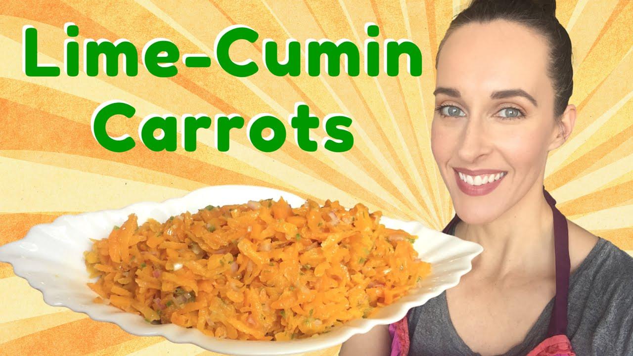 Recipe Demo: Lime-Cumin Carrot Salad -What to Bring to a BBQ- Vegan, Vegetarian Recipe