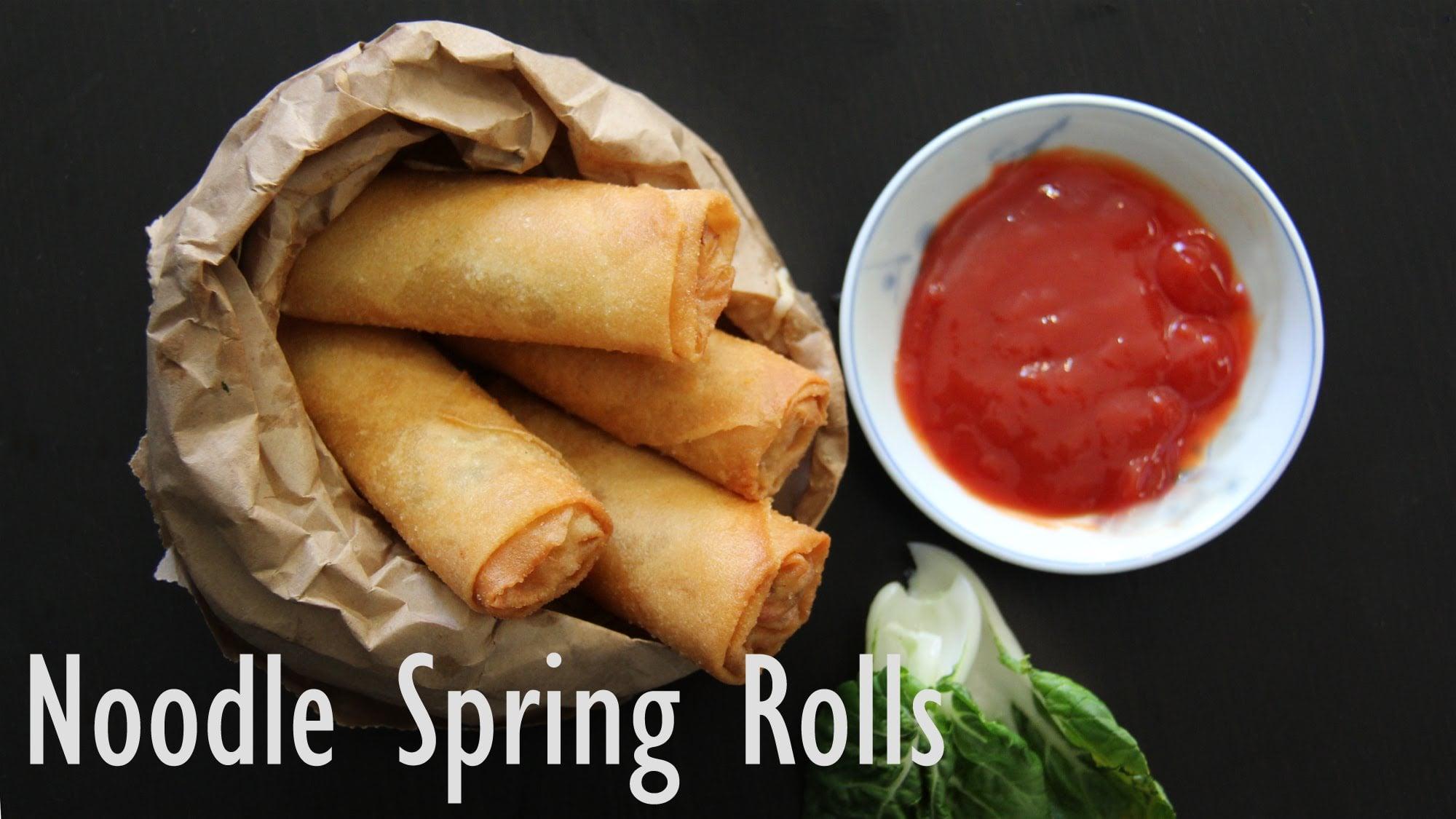Spring Rolls   How to make Veg Spring Rolls- Easy Indian Veg Appetizer & Starter Recipes by Shilpi