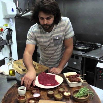 Video recipe: Pinchos morunos with mojo picón by Omar Allibhoy