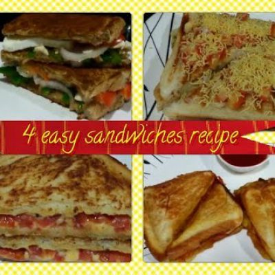 4 Easy sandwiches recipes / quick & fast recipes