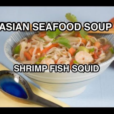 Asian Seafood & Coconut Milk Recipe – Shrimp Fish Squid