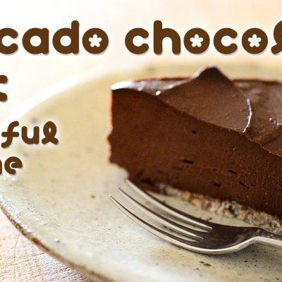 Avocado chocolate tart (raw vegan) ☆ アボカドチョコレートタルト