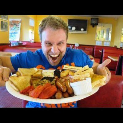 BIGGEST English Breakfast Eating Challenge!