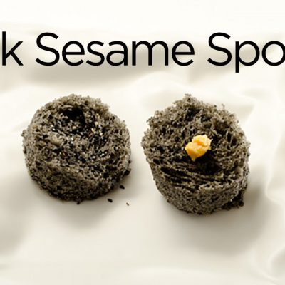 Black Sesame Microwave Sponge Cake and Miso