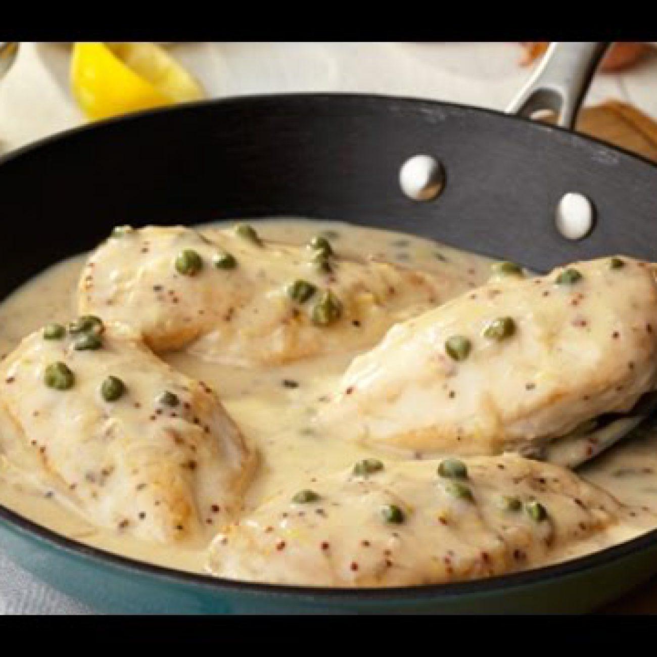 Chicken Breast in a Cream Parmesan Pest Sauce Recipe