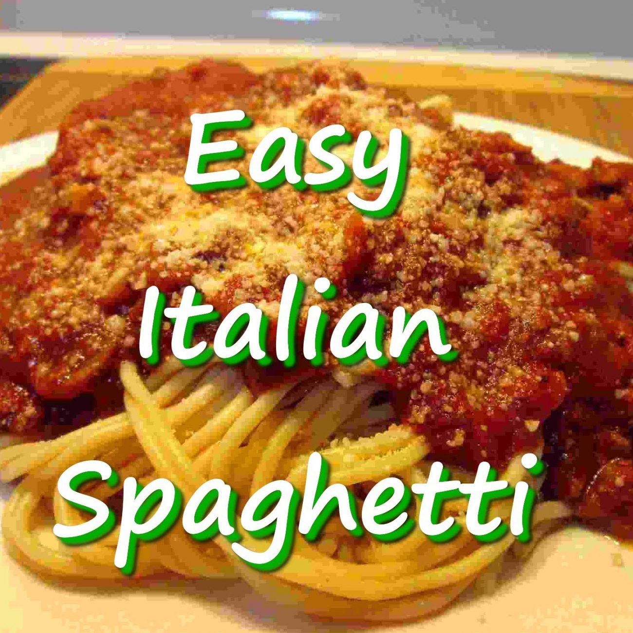 Easy Homemade Italian Spaghetti Marinara Recipe