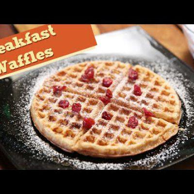 Eggless Breakfast Wholewheat Waffles | Easy Breakfast / Snack Recipe | Divine Taste With Anushruti