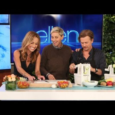 Ellen, Giada De Laurentiis and David Spade Cook… Sort Of