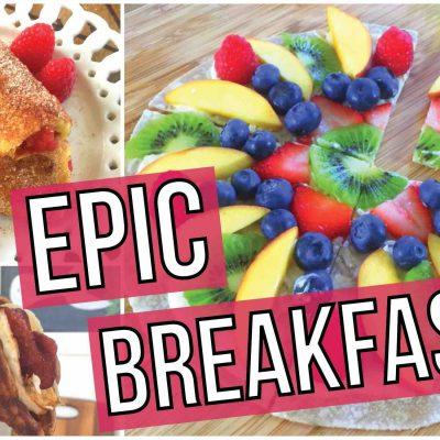EPIC Breakfast Ideas – Waffle Taco, French Toast Rollups, Breakfast Pizza!