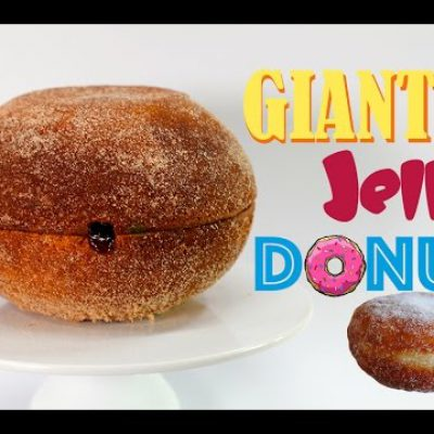 GIANT JELLY DONUT – Mega Jam Doughnut CAKE | Recipe by My Cupcake Addiction