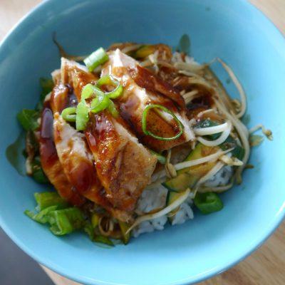 Homemade Teriyaki Chicken Bowl Recipe
