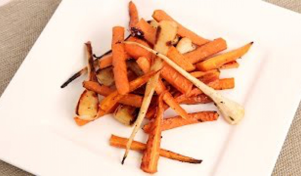 Honey Thyme Roasted Carrots Parsnips Recipe Laura In The Kitchen Episode 852 Recipe Flow
