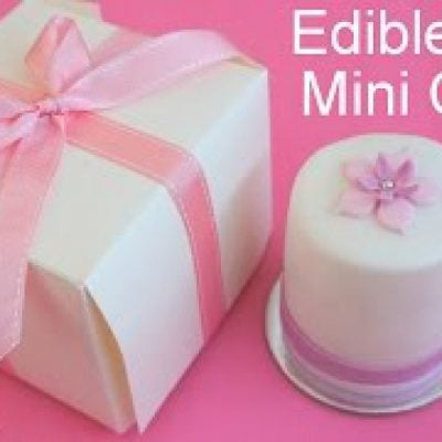 How to Make Mini Cakes for Edible Gifts or Wedding Favors by Pink Cake Princess