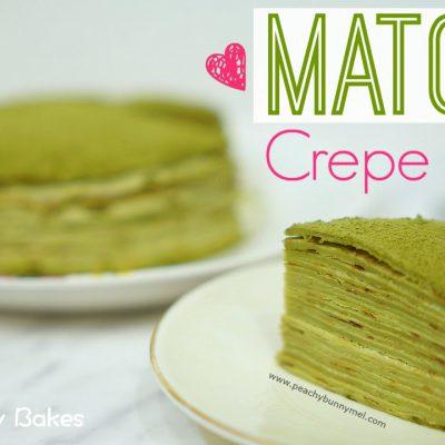 [Lady M] Matcha Mille Crepes Cake⎜抹茶千層蛋糕 (可麗餅蛋糕) – Peachy Bunny Bakes