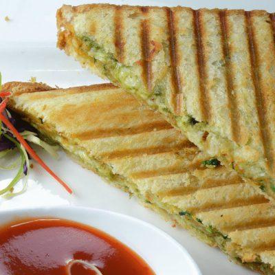 Masala Grilled Sandwich – Potato Masala  – By Vahchef @ vahrehvah.com