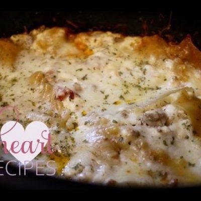 Slow Cooker Lasagna Recipe – Lasagna made EASY – I Heart Recipes