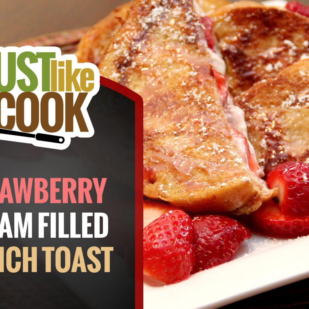 Strawberry Cream Stuffed French Toast Recipe