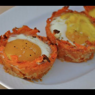 Sweet Potato Egg Cups – on-the-go breakfast recipe
