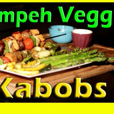 Tempeh Veggie Kabobs | Vegan Grilling | The Vegan Zombie