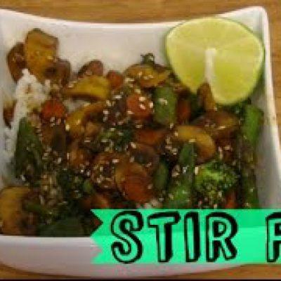 Vegan Stir Fry Veggies Over Rice Recipe